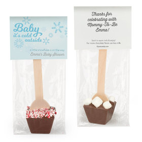 Personalized Baby Shower Baby It's Cold Outside Hot Chocolate Spoon