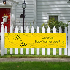 Personalized Baby Shower Gender Reveal Bee 5 Ft. Banner
