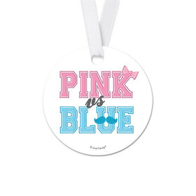 Personalized Round NAME Baby Shower Favor Gift Tags (20 Pack)