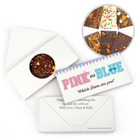 Personalized Gender Reveal Banners Gourmet Infused Belgian Chocolate Bars (3.5oz)