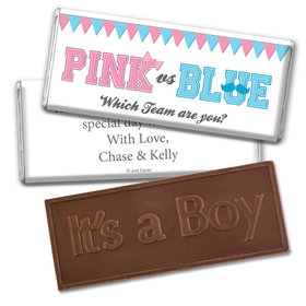 Gender Reveal Baby Shower Banners Embossed It's a Boy Chocolate Bar