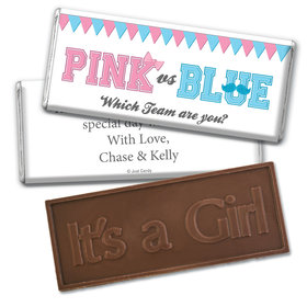 Gender Reveal Baby Shower Banners Embossed It's a Girl Chocolate Bar