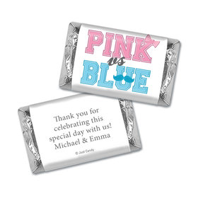 Gender Reveal Baby Shower Banners Personalized Hershey's Miniatures Wrappers