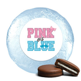 Gender Reveal Belgian Chocolate Covered Oreo Cookies Mustache & Bow (24 Pack)