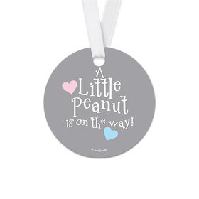 Personalized Round Elephants Baby Shower Favor Gift Tags (20 Pack)