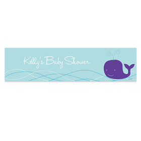 Personalized Baby Shower Whale Banner
