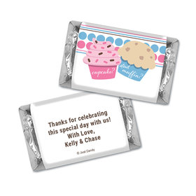 Gender Reveal Baby Shower Cupcakes Personalized Hershey's Miniatures