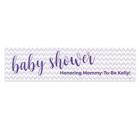 Personalized Chevron Baby Shower Banner