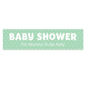 Personalized Polka Dots Baby Shower Banner