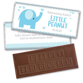 Baby Shower Personalized Embossed Chocolate Bar Little Peanut