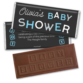 Baby Shower Personalized Embossed Chocolate Bar Tiny Joy