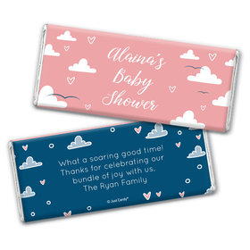 Baby Shower Personalized Chocolate Bar Wrappers Only Cuddly Clouds