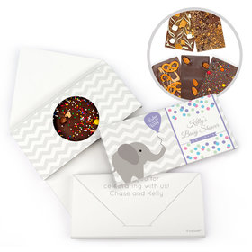 Personalized Baby Shower Chevron Dots Elephant Gourmet Infused Belgian Chocolate Bars (3.5oz)