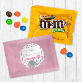 Personalized Baby Shower Elephant Dots Peanut M&Ms