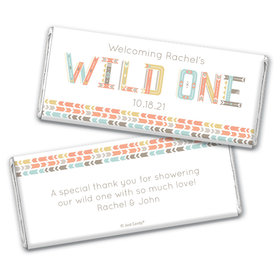 Baby Shower Personalized Chocolate Bar Wild One