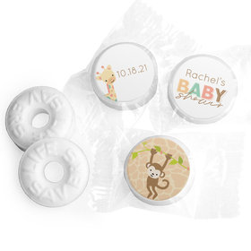 Baby Shower Personalized Life Savers Mints Safari Snuggles