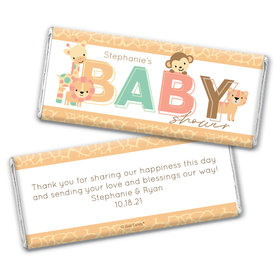 Baby Shower Personalized Chocolate Bar Wrappers Only Safari Snuggles
