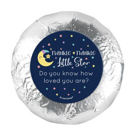 "Personalized Little Star Baby Shower 1.25"" Stickers (48 Stickers)"