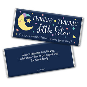 Baby Shower Personalized Chocolate Bar Wrappers Only Little Star