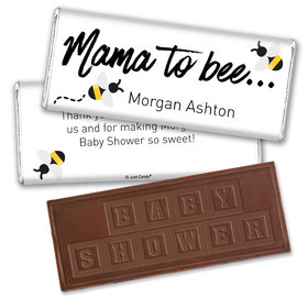 Baby Shower Personalized Embossed Chocolate Bar Mama to Bee