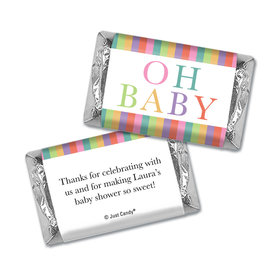 Baby Shower Personalized Hershey's Miniatures Wrappers Happy Baby