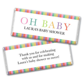 Baby Shower Personalized Chocolate Bar Wrappers Only Happy Baby