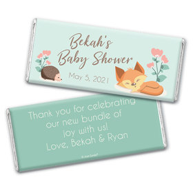 Baby Shower Personalized Chocolate Bar Wrappers Only Woodland Buddies
