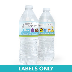 Personalized Baby Shower Baby Express Water Bottle Sticker Labels (5 Labels)
