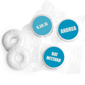 Bar & Bat Mitzvah Personalized Life Savers Mints Block Name