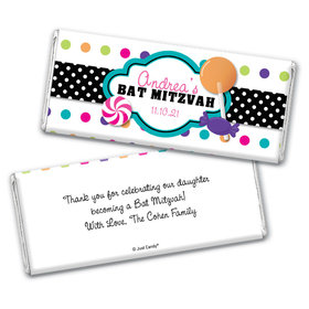 Bat Mitzvah Personalized Chocolate Bar Wrappers Polka Dot Candy Shoppe