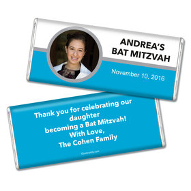 Bat Mitzvah Personalized Chocolate Bar Photo Circle