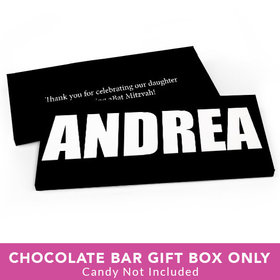 Deluxe Personalized Bat Mitzvah Block Name Candy Bar Cover