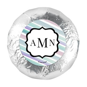 "Personalized Bat Mitzvah Monogram 1.25"" Sticker (48 Stickers)"