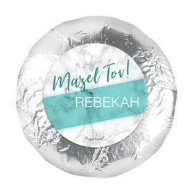 "Personalized Bat Mitzvah Marble 1.25"" Sticker (48 Stickers)"