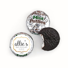 Personalized Bat Mitzvah Golden Day Pearson's Mint Patties