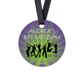 Personalized Round Dance Party Bat Mitzvah Favor Gift Tags (20 Pack)