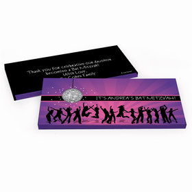 Deluxe Personalized Bat Mitzvah Disco Dance Chocolate Bar in Gift Box