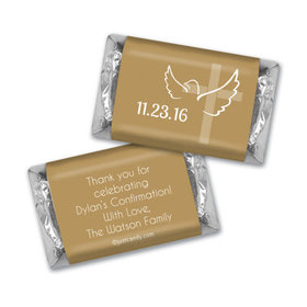 Confirmation Personalized Hershey's Miniatures Wrappers Cross & Dove