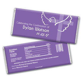 Confirmation Personalized Chocolate Bar Cross & Dove