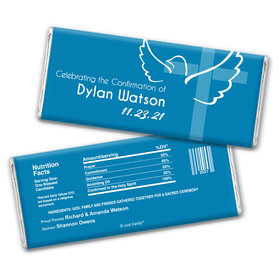 Confirmation Personalized Chocolate Bar Wrappers Cross & Dove