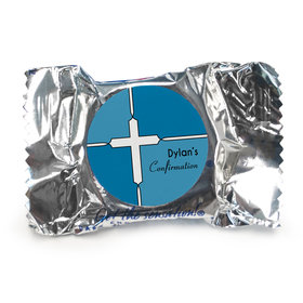 Confirmation Personalized York Peppermint Patties Stained Glass Cross