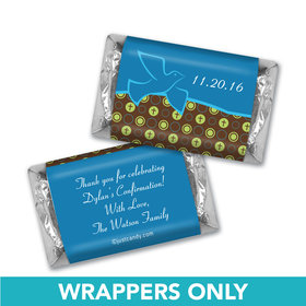 Confirmation Personalized Hershey's Miniatures Wrappers Doves & Circle Crosses