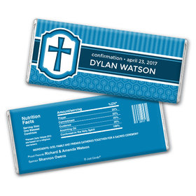 Personalized Confirmation Chocolate Bar & Wrapper