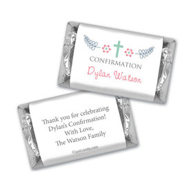 Confirmation Personalized Hershey's Miniatures Wrappers Blooming Flowers