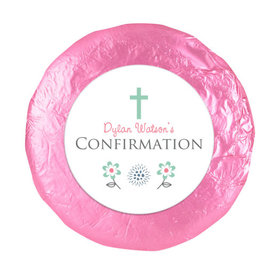 """Confirmation 1.25"""" Sticker Blooming Flowers (48 Stickers)"""