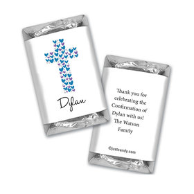 Confirmation Personalized Hershey's Miniatures Wrappers Hearts Cross