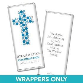 Confirmation Personalized Chocolate Bar Wrappers