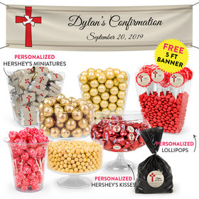 Personalized Confirmation Red Cross Deluxe Candy Buffet