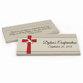 Deluxe Personalized Confirmation Red Cross Chocolate Bar in Gift Box