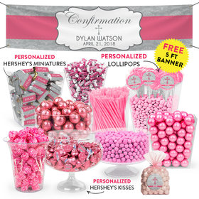 Personalized Girl Confirmation Classic Cross Deluxe Candy Buffet